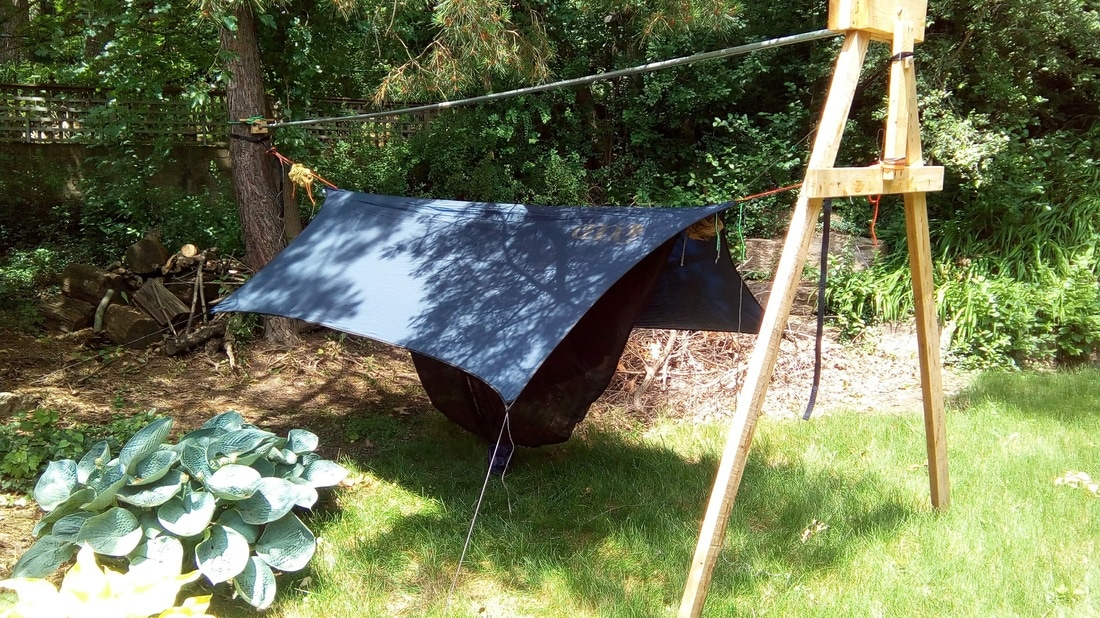 My ENO Doublenest With Guardian Bug Net ProFly Tarp And DIY Underquilt Top Quilt